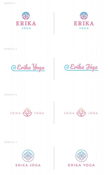 tervezett logók ügyfelünknek, az Erika Jógának