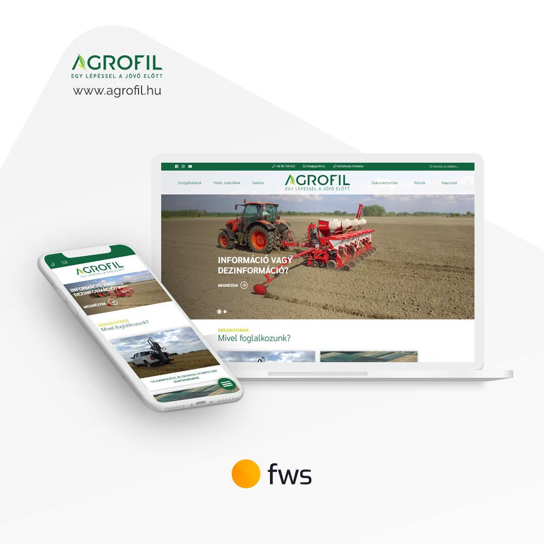 Egyedi fejlesztésű, mobilbarát honlap a mezőgazdaságban